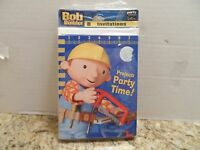 Bob The Builder 8 Invitations Party Supplies With Envelopes