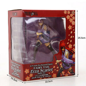 """NEW Anime Gift Fairy Tail Erza Scarlet 18cm/7"""" 1/7 Scale Painted PVC Figure  FNY"""