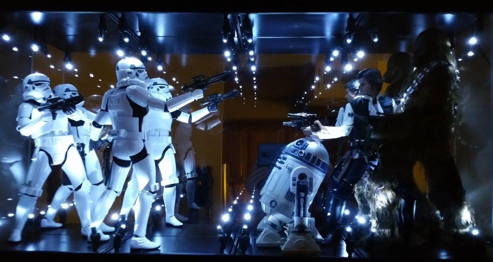 Affichage Acrylique Case DEL Boîte à  lumière pour 12  échelle 1 6th Hot Toys Star Wars Figure  juste l'acheter