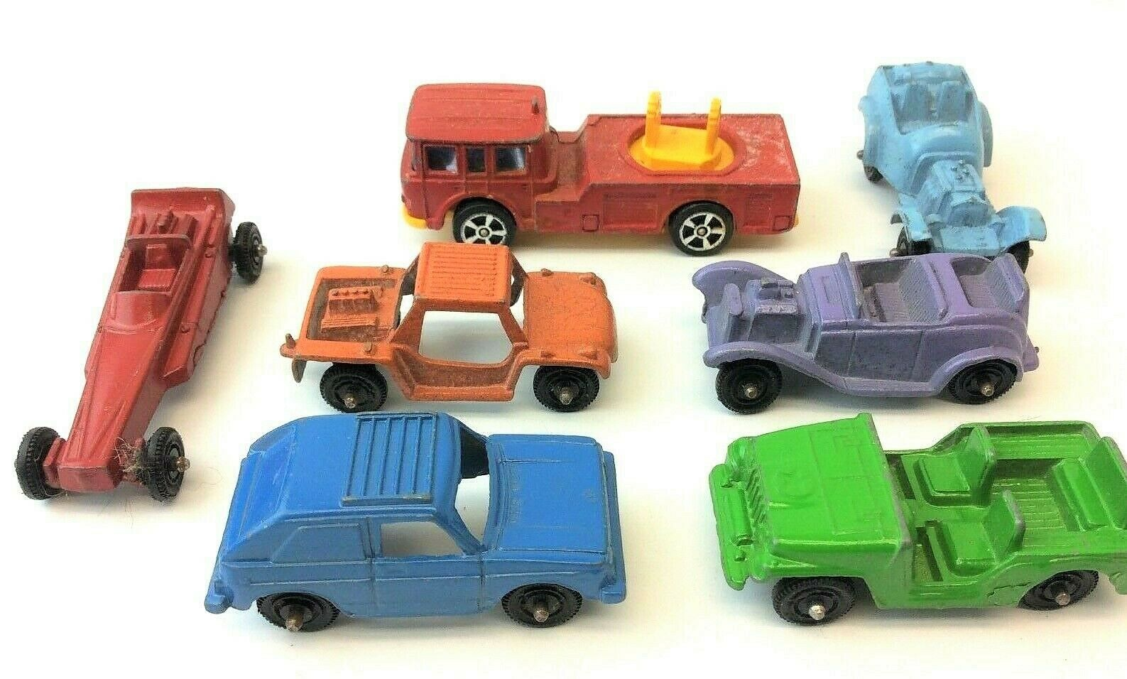 Gemischtes Lot Druckguss Tootsie Spielzeug USA Hase Jeep Roadster Hot Wheels