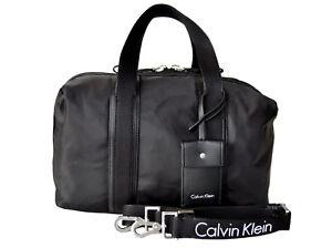 5cc9ac98f0874 CALVIN KLEIN Tasche Handtasche Bowling Bag FLUID DUFFLE Schwarz NEU ...