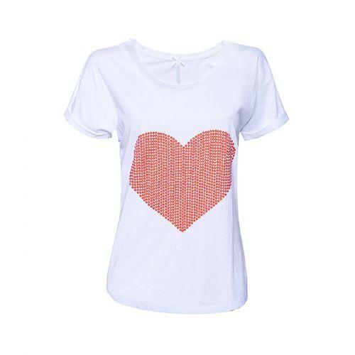 Herz Long Shirt weiß Kurzarm Louis & Louisa M 38