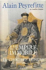 Livre-l-039-empire-immobile-Alain-Peyrefitte-editions-Fayard-annee-1989-book