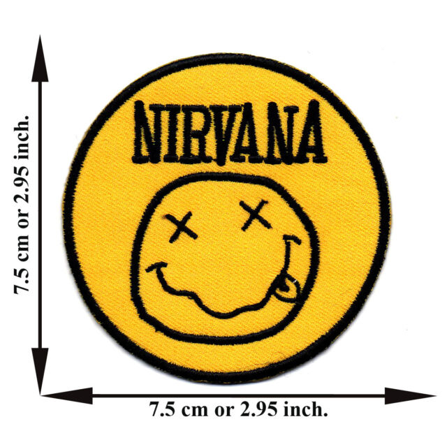 Yellow Nirvana Music Band Applique Iron on Patch Sew For T-shirt Jeans Cap Hat