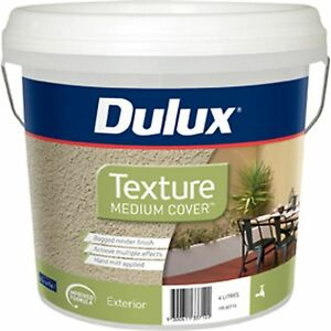 Dulux Medium Cover Texture Exterior Paint Fade Resistant Bagged Render Finish 4l Ebay