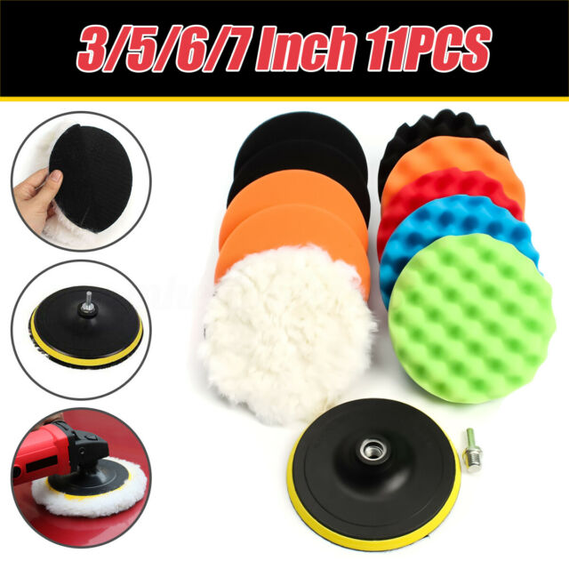 4Pcs 3//4//5//6//7 Inch Buffing Polishing Sponge Pads Kit for Car Polisher Buffer 6 Inch