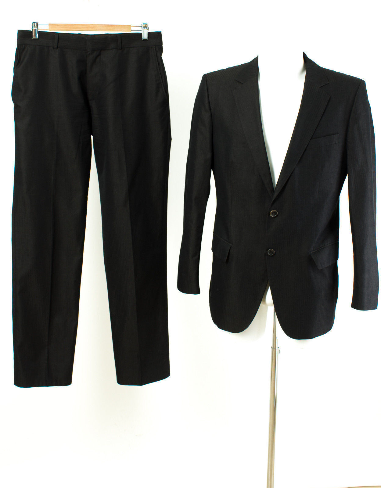 HUGO BOSS ROT LABEL Anzug Gr. 48 / S 100% Baumwolle Sakko Hose Geschäft Suit