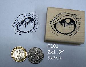 P101 Dragons Eye Rubber Stamp Large