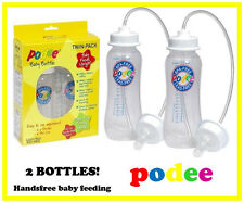 PODEE Handsfree BABY BOTTLES! Twin Pack - MUST HAVE FOR ALL PARENTS - OZ STOCK