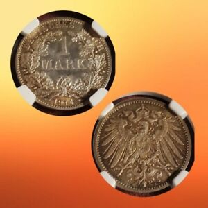 1914-A German 1 Mark Silver Coin - NGC MS-65 lot t1063