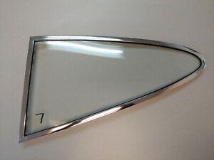 USED ORIGINAL PORSCHE 911 912 SWB CHROME LR QUARTER WINDOW CLEAR SEKURIT GLASS 7