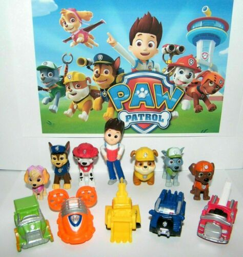 12pc//Set Paw Patrol Cake Toppers Action Figures Puppy Patrol Dog Kids Toys Gift