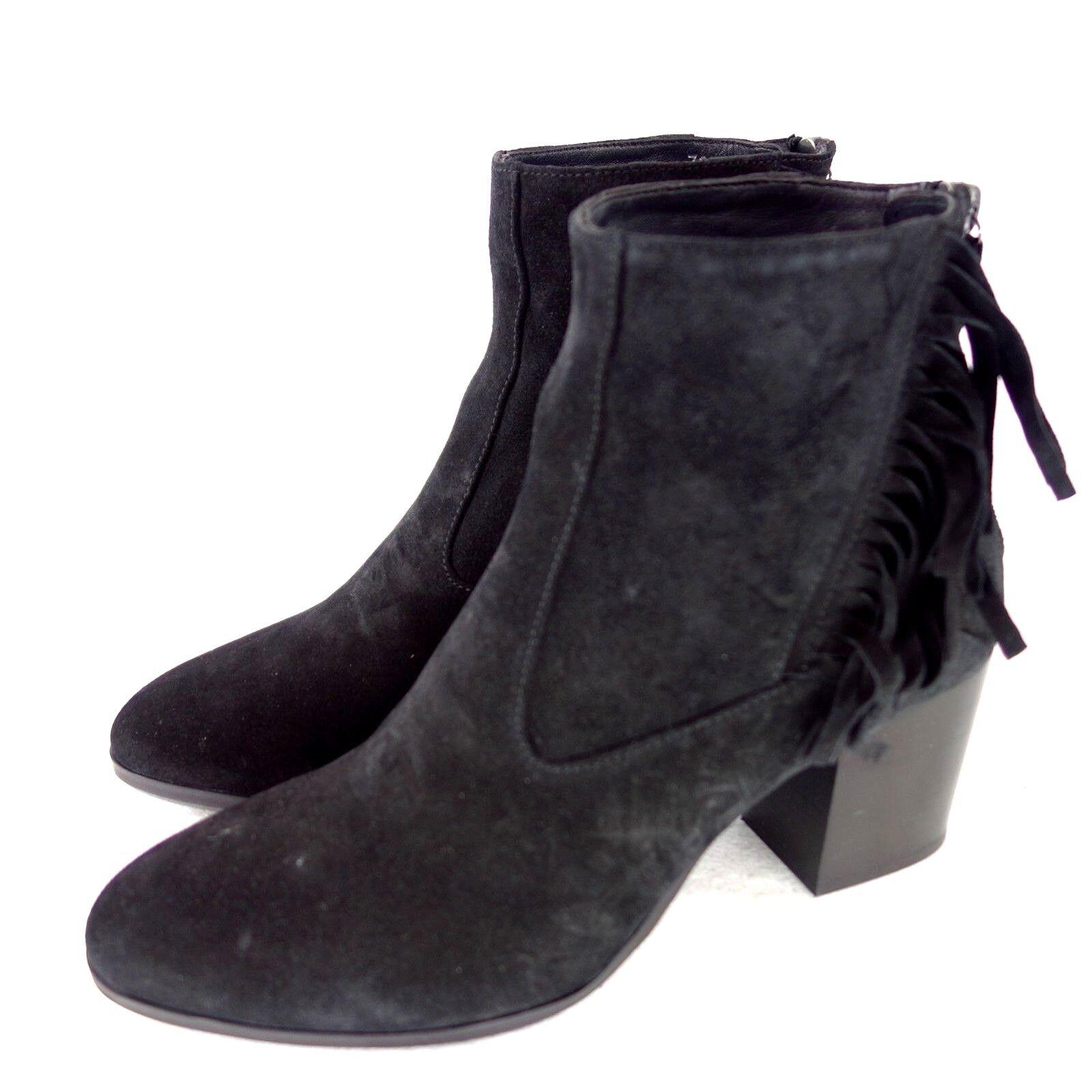 HOMERS Damen Stiefel Stiefeletten Schuhe Leder Schwarz Wildleder NP 285 NEU