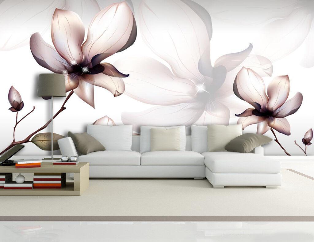 3D Tulipano Puro..Parete Murale Foto Carta da parati immagine sfondo muro stampa