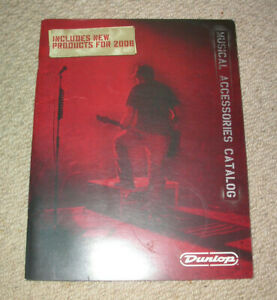 CréAtif Dunlop Mxr Effets Pédales & Accessoires 2008 Catalogue Guitare Collector Personnalisé-afficher Le Titre D'origine