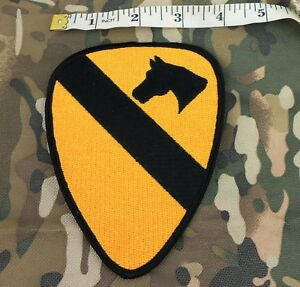 WW2 US ARMY 1ST CALVARY SHOULDER PATCH HORSE EMBROIDERY MILITARY PATCH