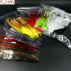 8colors-Rooster-Saddle-Hackle-Streamer-amp-Woolly-Bugger-Fly-Tying-Hackle-Feather