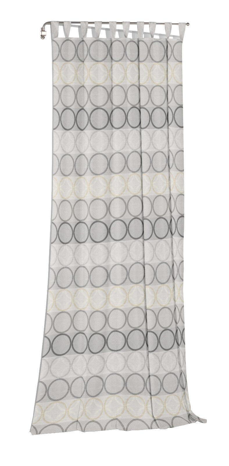 Jacquard Fertigvorhang   Schlaufenschal Zirbello Farbe 92 hellgrau   5 Größen | Schön und charmant  | Praktisch Und Wirtschaftlich  | Smart