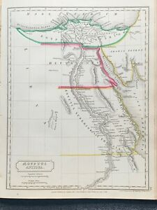 1829-ANCIENT-EGYPT-HAND-COLOURED-ANTIQUE-MAP-BY-SIDNEY-HALL-191-YRS-OLD