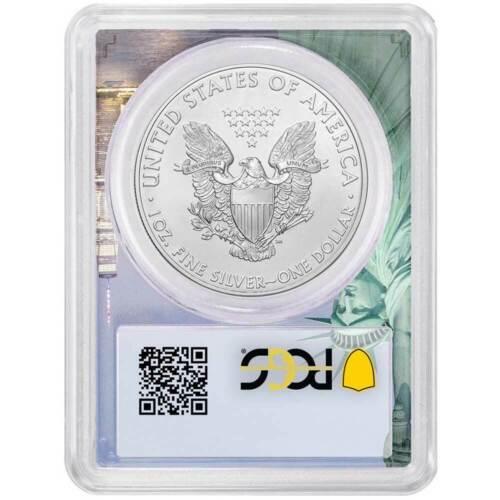 2019 $1 American Silver Eagle PCGS MS70 FDOI Statue of Liberty Frame