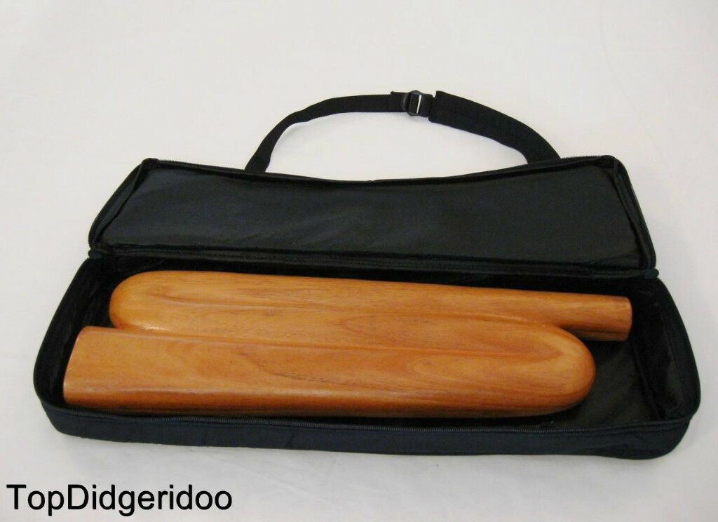 Z-Form Didgeridoo + Tasche Einzigartig Handgeschnitzt Mahagoni Hartholz Reise