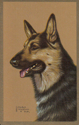 Vintage Swap/Playing Card - 1 SINGLE - GLADYS COOK DOG HEAD