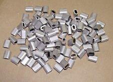 100 x 3mm Aluminium Ferrules Steel Wire Rope Crimping Sleeve