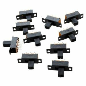 10-PZ-6-PIN-2-Posizioni-DPDT-ON-ON-Mini-Interruttore-A-Scorrimento-X7D9