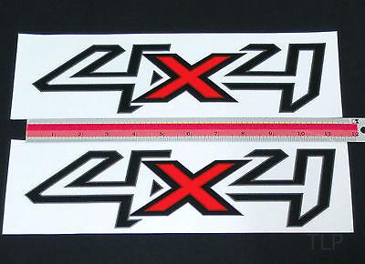2 X 4X4 LOGO EMBLEMS BADGE DECALS PLATE STICKER FORD RANGER T6 XLT PX 2012 13 14