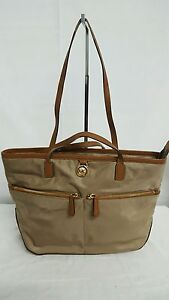 07af57f618f7 MICHAEL KORS KEMPTON MEDIUM POCKET TOTE BAD PURSE HANDBAG DUSK BROWN ...