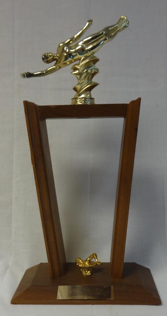 Beautiful Vintage 1960s 45.7cm Mujer Natación o Buceo Figural Trofeo