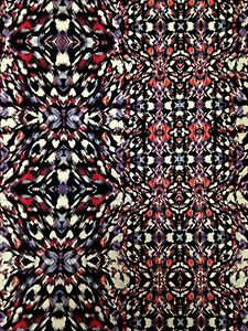 Kaleidoscope Geometric Print on Stretch ITY Knit Jersey Polyester Spandex Fabric