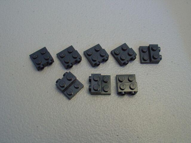 4 x lego 99206 Plate Flat 2x2x2//3 2 Studs on Side New New Grey Bluish Grey