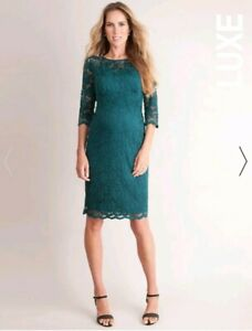 593d10e193527 Image is loading CURRENT-SEASON-Seraphine-Luxe-Green-Lace-Maternity -Cocktail-