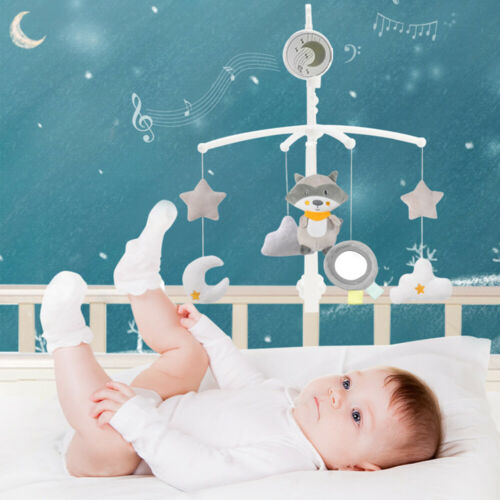 Bed Bell Kids Crib Musical Mobile Cot Music Songs Box Gift Baby Rattles Toy UK