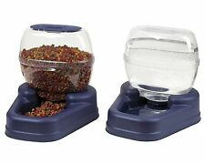 Automatic Pet Food Drink Dispenser Dog Cat Feeder Water Bowl Dish Large Combo