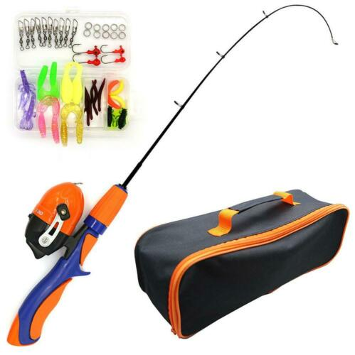 Children Telescopic Fishing Rod with Reel Lures Accessories Travel Bag Combo Set
