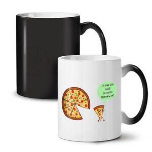 Pizza Slice Walk NEW Colour Changing Tea Coffee Mug 11 oz | Wellcoda