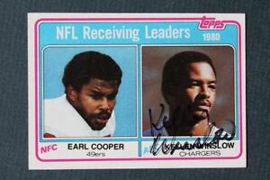 San Diego Chargers Kellen Winslow signed/autographed 1981 Topps football card!