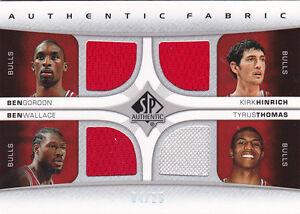 2006-07-SP-Authentic-Fabric-Quad-Gordon-Hinrich-Wallace-Tyrus-Thomas-Jersey-25