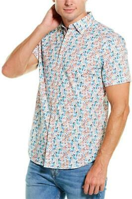 Robert Graham Men/'s Short Sleeve Karol Bar Drinks Pattern Shirt Tailored Fit
