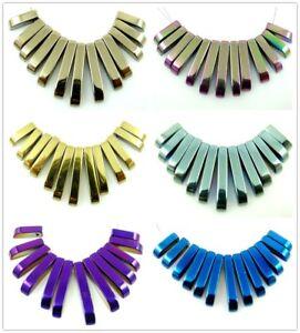 13pcs-Multicolor-Titanium-Hematite-Pendant-necklace-Loose-beads-B1