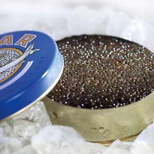 125g ( 100 g/22,72€) BOWFIN KAVIAR MALOSSOL DOSE AMERICAN BLACK CAVIAR ИКРА