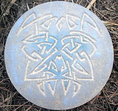 Gothic Celtic Merry Meet mold plaster concrete plastic casting mold