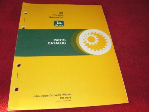 John Deere 38 Forage Harvesters Dealers Parts Book