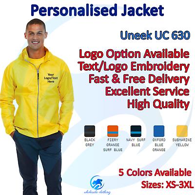 Personalised Classic Softshell Jacket Custom Work Wear Embroidered Uneek UC612