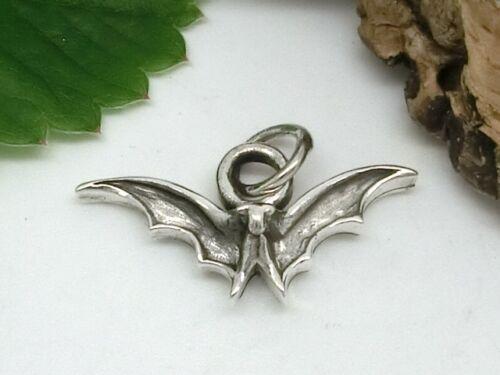 Fledermaus Anhänger 925 Silber Gothic Vampire Mittelalter bat