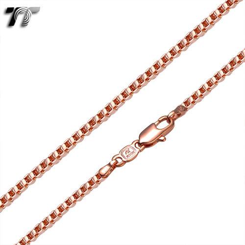TT 9K Rose Gold Filled Box Chain Width 0.8-1.5mm Length 35-70cm CF103