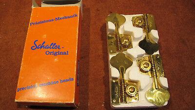 Open 2 left// 2 right Gold Schaller BMGO 524 Bass Machine Head BM
