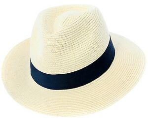 0163cf87c2ab8 Mens or Womens Straw Fedora Hat Crushable Wide Brim Panama Hat ...